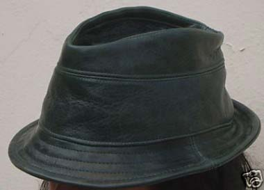 green-leather-trilby