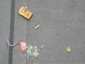 Dropped sandwich
