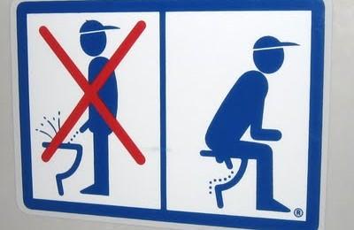 Peeing sign