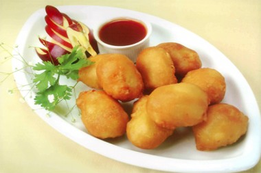 Sweet sour pork balls