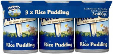 TIN rice pud